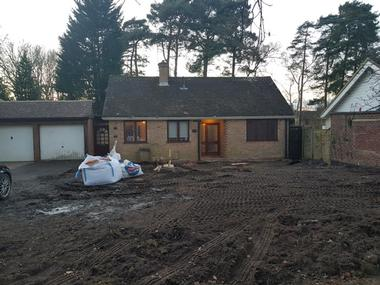 Property developer in Berkshire. New build house. CR Project Solutions. Before